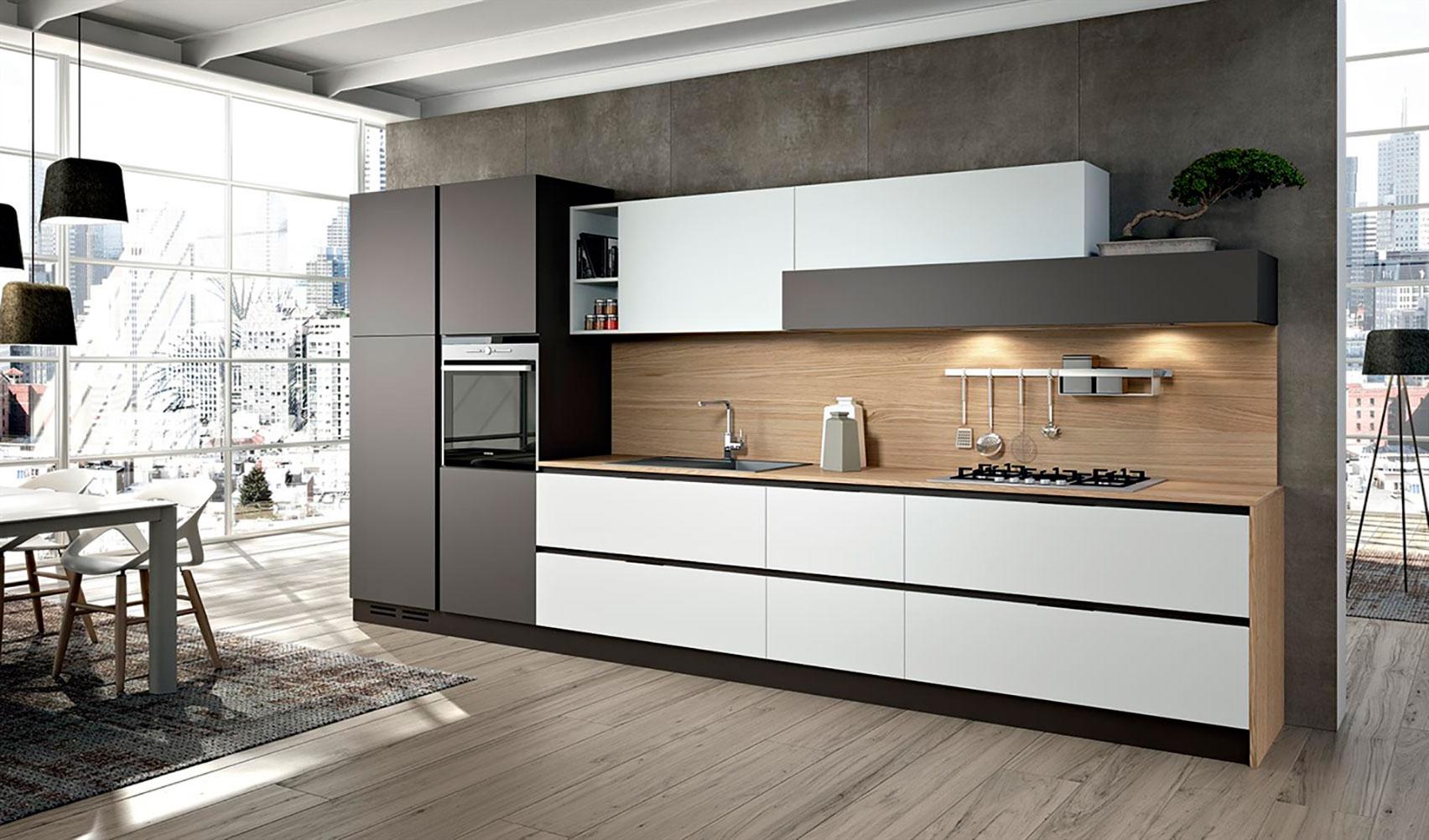 Decoracion de cocinas modernas en zaragoza blunni for Cocinas paralelas