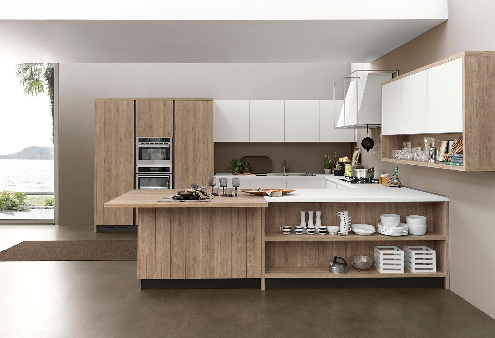 La madera en cocina for Ideas para cocinas integrales