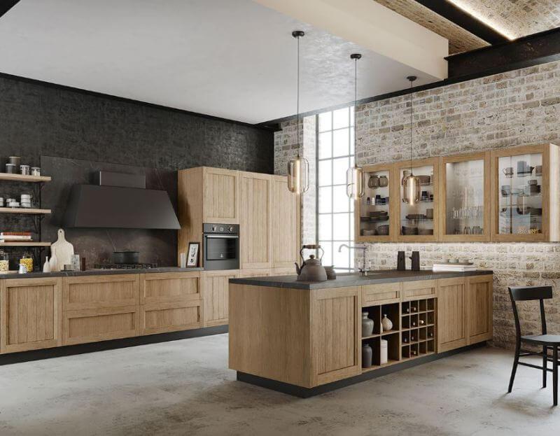 muebles cocina madera chapa