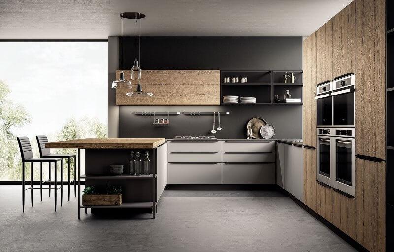 tipos mobiliario cocina madera
