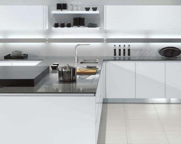 como iluminar cocina moderna